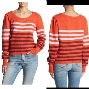 Free People Complete Me Stripe Pullover Sweater